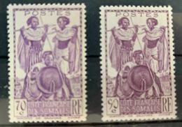 1939/40  Y Et T 180/1 * - Côte Française Des Somalis (1894-1967)
