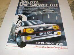 ANCIENNE   PUBLICITE VOITURE 205 GTI  DE PEUGEOT 1984 - Voitures