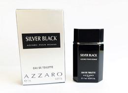 Miniatures De Parfum   SILVER BLACK AZZARO POUR HOMME De AZZARO   EDT 7 Ml + Boite - Modern Miniatures (from 1961)