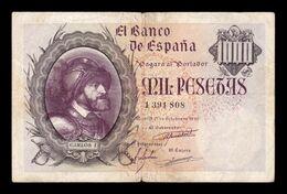 España Spain 1000 Pesetas Carlos I 1940 Pick 125 BC+/MBC F+/VF - [ 3] 1936-1975 : Regime Di Franco