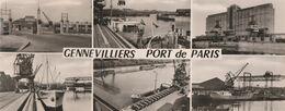 GENNEVILLIERS - PORT DE PARIS - DIVERS ASPECTS DU PORT DE PARIS - BELLE CARTE PHOTO EN NOIR ET BLAN- MULTI-VUES - TOP !! - Gennevilliers