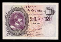 España Spain 1000 Pesetas Carlos I 1940 Pick 125 MBC+/EBC VF+/XF - [ 3] 1936-1975 : Regime Di Franco