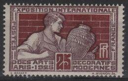 FR 1800 - FRANCE N° 212 Neuf** Exposition Arts Décoratifs - Francia