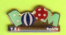 Pin's Médias TF1 Et Mon Coeur Fait Boum Ballons Boom - 6C15 - Mass Media