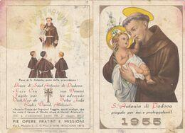 Calendarietto S.antonio Da Padova 1955 - Petit Format : 1941-60
