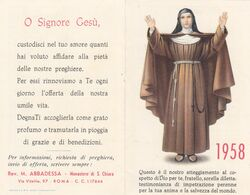 Calendarietto S.chiara 1958 - Petit Format : 1941-60