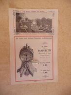 Vieux Papier Publicité Photo PENDULETTE De VOYAGE De Style  - Photo Jardin Terrasses Château De Verteuil  ( Char - Advertising