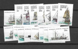 1979 MNH Australian Antactic Territory, Mi 37-52, Postfris** - Unused Stamps