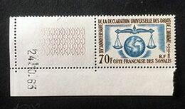 COTE FRANCAISE DES SOMALIS - XVe Anniversaire De La Déclaration Universelle Des Droits De L'homme - Y&T N° 318 - 1963 - Côte Française Des Somalis (1894-1967)