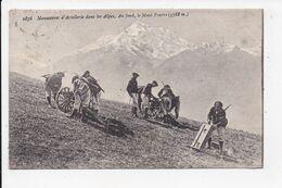 CP MILITARIA Manoeuvre D'artillerie Dans Les Alpes - Manovre