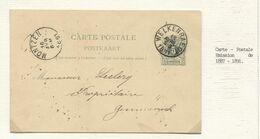 REF1882/ Entier CP 19 B écrit De Henri Chapelle C.Welkenraedt 15/4/1891 > Gemmenich  C.d'arrivée Montzen 16/04/1891 - Postkaarten [1871-09]