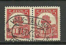 Estland Estonia 1932 O VALK-TALLINN Railway Cancel Bahnpost Stempel Michel 94 As Pair - Estland