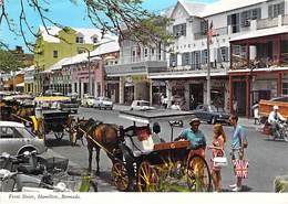 BERMUDA Bermudes - HAMILTON : Front Street - CPSM Dentelée Grand Format 1970-80's - Caraïbes Caribbean Antilles - Bermudes