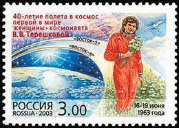 2003Russia108840 Years Of Space Flight Tereshkova - Russia & URSS