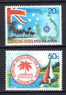 1979 - ISOLE COCOS -  Mi.  Nr. 32/33 - NH - (K-EA.30) - Cocos (Keeling) Islands