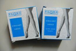 Neuf - Lot De 2 Paires De Collants Flora Monoprix Voile Noir Polyamide 15 D Taille 2 - Accessories