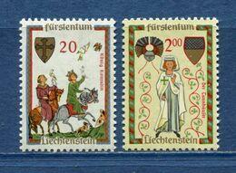 Liechtenstein - YT N° 373 Et 376 - Neuf Sans Charnière - 1962 - Ungebraucht