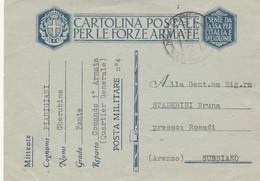 FRANCHIGIA 1940 TIMBRO POSTA MILITARE 4 (ZX456 - Zonder Portkosten