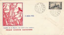 FDC 1955 S.FRANCESCO L.25 (ZX469 - F.D.C.