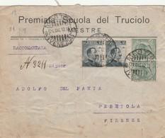 RACCOMANDATA 1912 2X15+2X5 TIMBRO VENEZIA MESTRE (ZX532 - Storia Postale