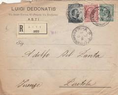 RACCOMANDATA 1914 15+10+5 C. TIMBRO ASTI ALESSANDRIA (ZX533 - 1900-44 Vittorio Emanuele III