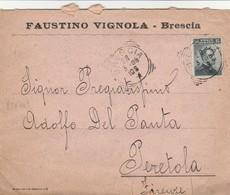 LETTERA 1908 C.15 FAUSTINO VIGNOLA TIMBRO BRESCIA (ZX606 - Storia Postale