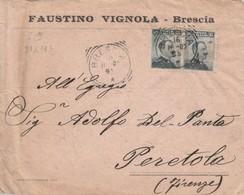 LETTERA 1907 2X15 C. FAUSTINO VIGNOLA TIMBRO BRESCIA (ZX625 - 1900-44 Vittorio Emanuele III