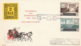 FDC SAN MARINO 1959 FRANCOBOLLO ROMAGNE (ZX693 - FDC