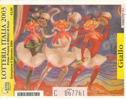 BIGLIETTO LOTTERIA 2003 GIALLO (ZX702 - Loterijbiljetten