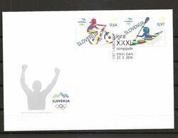 SLOVENIA 2016,NEW STAMPS 27.05, SPORT,OLYMPIC GAMES,RIO DE JENEIRO,FDC - Summer 2016: Rio De Janeiro