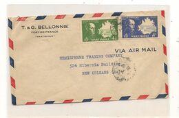 1945 ENVELOPPE DE FORT DE FRANCE POUR NEW ORLEANS ( U.S.A.) - Briefe U. Dokumente