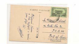 1937 CARTE POSTALE VUE DE FORT DE FRANCE  POUR PORT OF SPAIN (TRINITÉ ET TOBAGO) - Briefe U. Dokumente