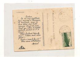 1947 CARTE POSTALE DE FORT DE FRANCE  POUR YPORT  (SEINE MARITIME) - Briefe U. Dokumente