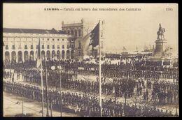 LISBOA Parada Em Honra Dos Vencedores Dos Cuamatas / Cuamatos (Africa). Postal Fotografico Martins & Silva PORTUGAL - Lisboa