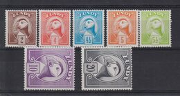 #L65 Great Britain Lundy Island Puffin Stamp Puffin Bust Definitives Set Mint - Albatrosse & Sturmvögel