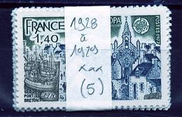 Europa CEPT 1977 France - Frankreich Y&T N°1928 à 1929 - Michel N°2024 à 2025 *** - Lot De 5 Séries - 1977