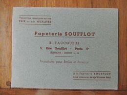 2 BUVARDS DIFFERENTS - PAPETERIE SOUFFLOT - 5 RUE SOUFFLOT PARIS V° - IMPRIMERIE - Blotters