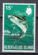 Gilbert- Und Ellice-Inseln 1971 - Mi.Nr. 176 - Postfrisch MNH - Tiere Animals Fische Fisches Haie Sharks - Peces