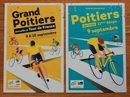 Cyclisme :  Tour De France 2020, 2 Cartes De Poitiers Ville étape - Radsport