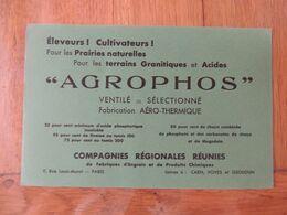 AGROPHOS - ELEVEURS CULTIVATEURS  POUR LES PRAIRIES NATURELLES - USINES A CAEN VOVES ET ISSOUDUN - Blotters