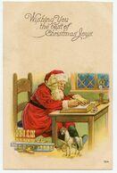 Vous Souhaitant Le Meilleur Des Joies De Noël. Wishing You The Best Of Christmas Joys. Père Noël Comptabilisant Le Stock - Non Classés