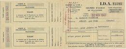 1943 / Rationnement / Rare 3 Volets Coupons Peausserie / Joints De Batteuse / Pour Tournier à Athoze Par Nods / 25 Doubs - 1939-45