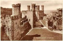 Wales, Caernarfon, Caernarvon Castle, Real Photograph - Caernarvonshire