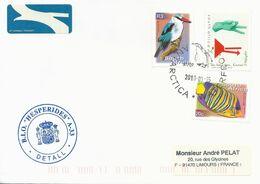 """Lettre BIO """"Hesperides"""" Avec Timbres Afrique Du Sud N°1488, 1127E Et 1127W - Cachet Du 15/03/2010 - Polar Ships & Icebreakers"""