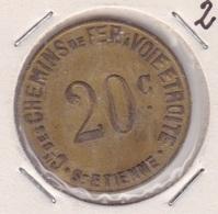 Jeton Saint Etienne - Bon Pour Un Parcours - Monetari / Di Necessità