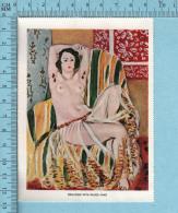 1953 Miniature -Chromo-litho- Odalisque With Raised Arms,  Henri Matis -  Sur Papier Couché - Lithographies