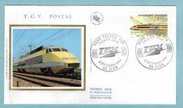 FDC France 1984 - Première Liaison Par Le TGV Postal - YT 2334 - 69 Lyon - 1980-1989