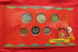 Singapore Set 5 10 20 50 Cents 1 5 $ 2004 - Singapore
