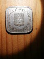 COIN MONNAIE FRANCE JETON NECESSITE NORMANDIE CAEN 25 CENTIMES 1921 - Monetary / Of Necessity