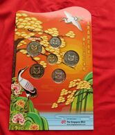 Singapore Set 5 10 20 50 Cents 1 5 $ 2010 - Singapore